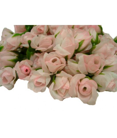 ดอกกุหลาบประดิษฐ์สีชมพูอ่อน