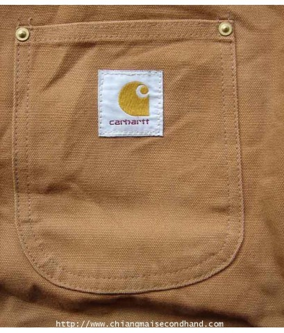 เสื้อแจ๊กเก็ตผ้าใบ 3 ตะเข็บ Carhartt Workwear size L Made in U.S.A.