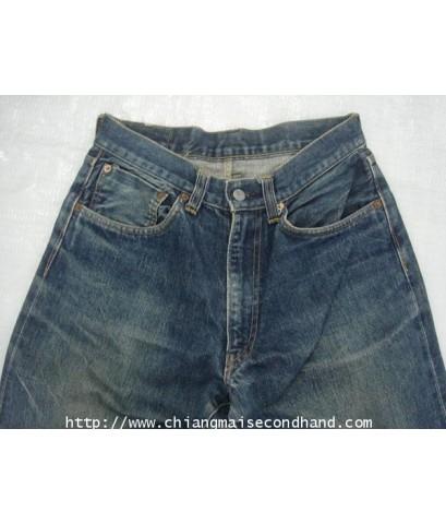 กางเกงยีนส์ญี่ปุ่นมือสอง EVIS Jeans by EVISU 29x33 ผ้าด้าน ริมแดง Talon Zipper Scovill Rivet