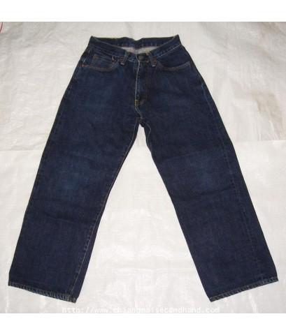 กางเกงยีนส์ญี่ปุ่นมือสอง DoCoMo Shikoku I Mode Jeans Lot 0037/100c  27x25.5 ซิป ริมแดง เป็กหลัง Scov