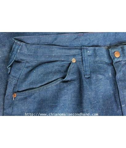 ยีนส์ผ้าด้าน Vtg. Wrangler Misses Jeans Pant USA Sz.20 36x30.5 Scovill กระดุม snap ป้ายขวาง