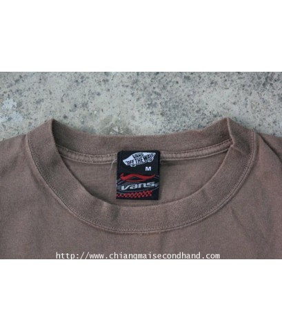 เสื้อยืดแวน Vans Off The Wall T-Shirt Sz.L Skateboard Surface From Line Structure