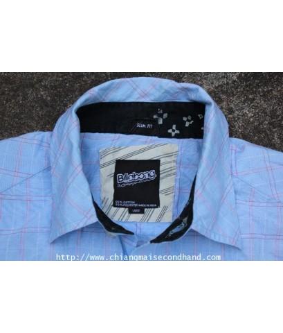 เสื้อเชิ้ตลายตาราง Billabang Slim Fit Shirt Sz.L Made in India