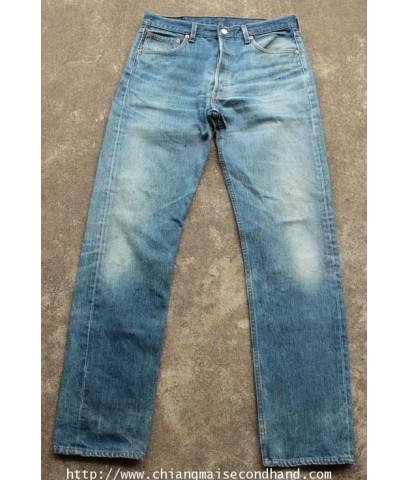 กางเกงยีนส์ลีวายส์ Levis 501 Denim Pant 34x34 Made in USA สวยเซอร์