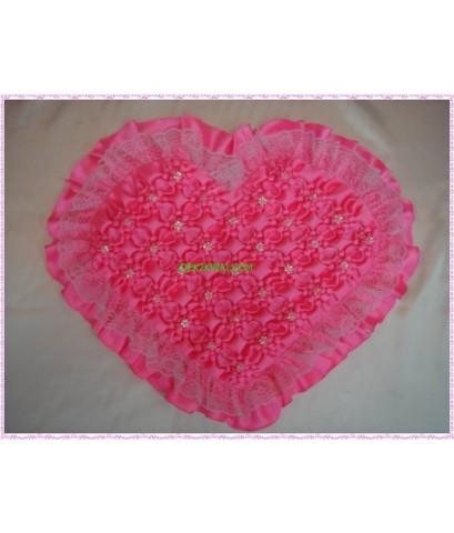 หมอนสม๊อครูปหัวใจลายดอกรักเร่