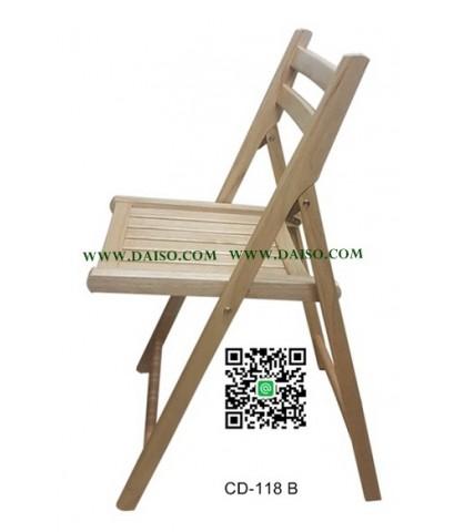 เก้าอี้ไม้ยางพาราพับได้ เก้าอี้พับ_CD-118 B