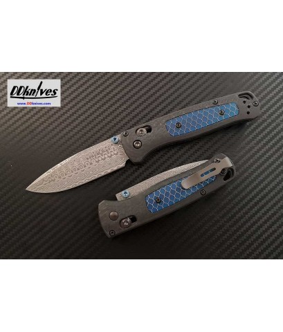 มีดพับ Benchmade Gold Class Bugout Damasteel Blade, Ghost Carbon Fiber Handles (535-191)
