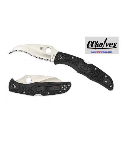 มีดพับ Spyderco Matriarch2 Folding Knife VG10 Satin Serrated Blade, Black FRN Handles (C12SBK2)
