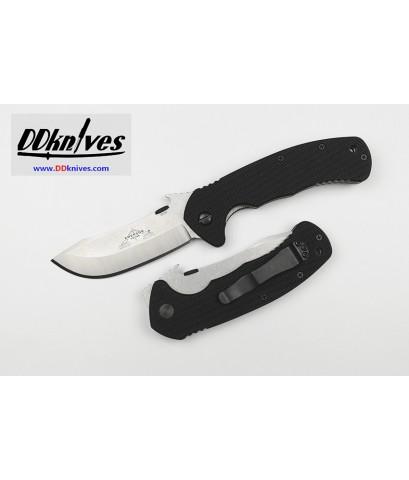 มีดพับ Emerson Rendezvous Folding Knife Plain Blade with Wave, Black G10 Handles (RNDZ-SF)
