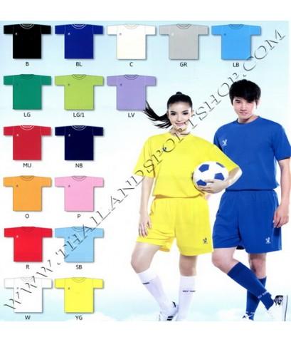 เสื้อกีฬา FLY HAWK รุ่น A 939 (สีขาว W) สีล้วน