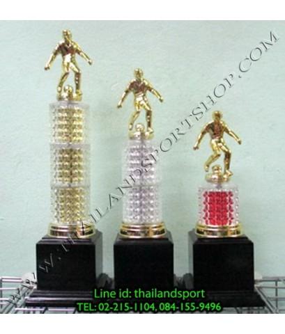 ถ้วยรางวัล SKY1980 รุ่น 015 (แบบแก้ว สีทอง, เงิน, ทองแดง G, SV, BC) หัวนักกีฬา แบบครบชุด NNNNN