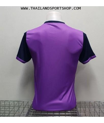 เสื้อกีฬา แกรนด์ สปอร์ต Grand Sport รุ่น 11-456 (สีม่วง) พิมพ์ลาย