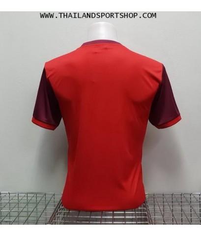 เสื้อกีฬา แกรนด์ สปอร์ต Grand Sport รุ่น 11-456 (สีแดง) พิมพ์ลาย