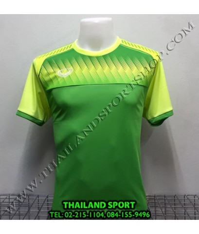 เสื้อกีฬา แกรนด์ สปอร์ต Grand Sport รุ่น 11-456 (สีเขียว) พิมพ์ลาย