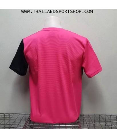 เสื้อกีฬา คอวี พิมพ์ลาย หมี คูล MHEE COOL รุ่น MV2 (สีชมพู)