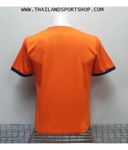 เสื้อ อีโก้ EGO SPORT รุ่น EG-5120 (สีส้ม) พิมพ์ลาย