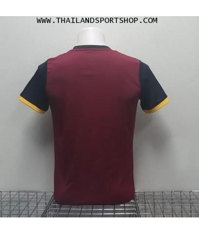 เสื้อกีฬา ยูเรก้า EUREKA รุ่น A5033 (สีเลือดหมู RR) พิมพ์ลาย