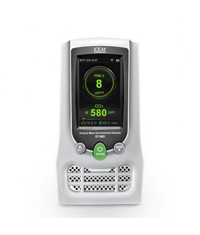 เครื่องวัดค่าฝุ่นละออง PM2.5 และ HCHO,TVOC, CO2 Detector, Wireless interface รุ่น DT-9681