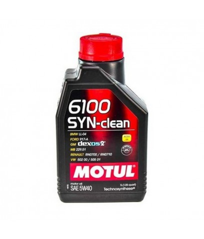 MOTUL 6100 SYN-CLEAN 5W-40 ขนาด 1 ลิตร