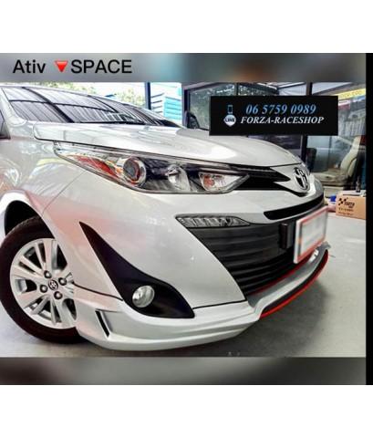 ชุดแต่งสเกิร์ตรอบคัน Toyota Yaris Ativ Space V1 - โตโยต้า ยาริส เอทีฟ 2017 2018 2019