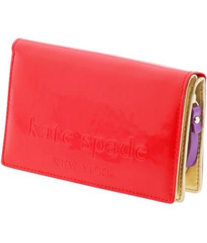กระเป๋่าสตางค์ ยี่ห้อ เคท สเปด Kate Spade สีชมพูแปร๋น มือ2 สภาพเอี่ยม รุ่นจูลส์ บิ๊กแอปเปิ้ล