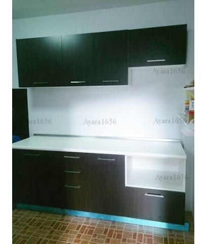 ชุดครัว Built-in Budget Kit 200A หน้าบาน Melamine สีโอ๊ค