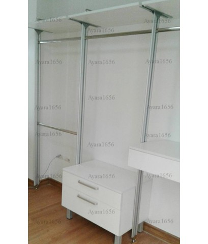 Walk In Closet - I Shape Melamine สีขาว