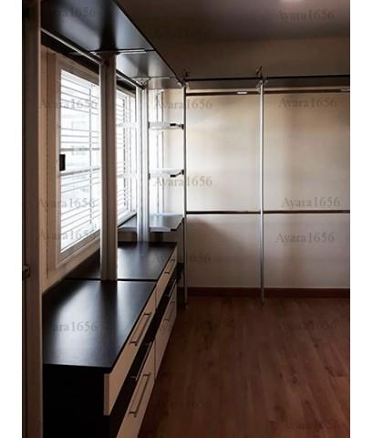 Walk in Closet - U Shape สี Oak