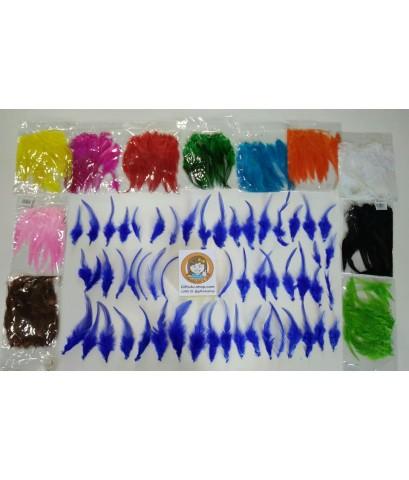 1 ถุง สีน้ำตาล ขนเป็ดย้อมสี ขนนกย้อมสี ขนไก่ย้อมสี ขนเฟอร์ สำหรับงานประดิษฐ์ ดีไอวาย DIY