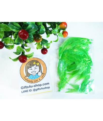 1 ถุง สีเขียว ขนเป็ดย้อมสี ขนนกย้อมสี ขนไก่ย้อมสี ขนเฟอร์ สำหรับงานประดิษฐ์ ดีไอวาย DIY