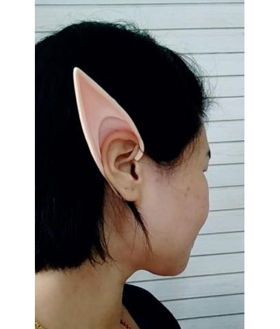 1 คู่ แบบเกี่ยวหู หูเอลฟ์ หูปลอม หูยาง หูแหลม ชุดคอสเพลย์ อุปกรณ์แต่งหน้า งานปาร์ตี้ แฟนซี Elf Ears