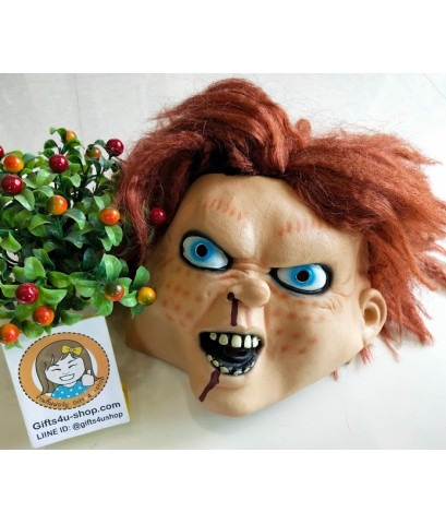 1 อัน หน้ากากชัคกี้ แค้นฝังหุ่น หน้ากากผี หน้ากากฮาโลวีน ปาร์ตี้ แฟนซี chakky mask movie halloween