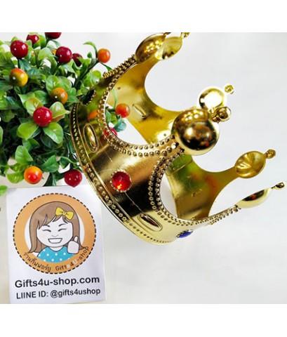 1 อัน ขนาดใหญ่ สีทอง มงกุฎพระราชา มงกุฎเจ้าชาย มงกุฎปัจฉิม มงกุฎรับปริญญา crown congratulation
