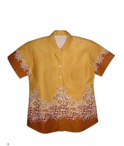 เสื้อเชิ้ตลายไทย,ลายดอก,อัดกาว
