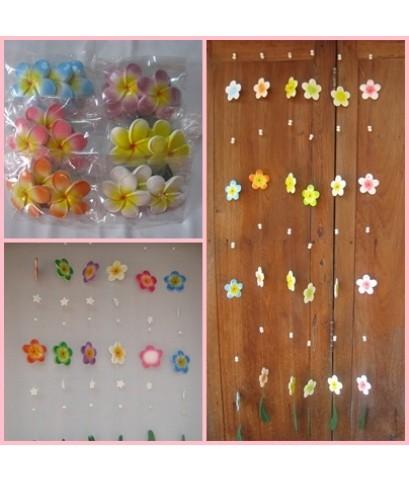 โมบายเซรามิค รูปดอกไม้ เส้นสั้น ราคาเส้นสั้น ขนาด 80 ซม. ราคาเส้นละ 39 บาท