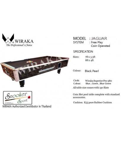 โต๊ะพูล รุ่น JAGUAR by GTT Billiard (มีทั้งรุ่นหยอดเหรียญ และ ไม่หยอดเหรียญ)