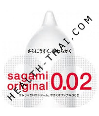 ถุงยางอนามัย Sagami 0.02 Original ซากามิ 0.02 ออริจินัล - บางที่สุดในโลก 0.02 มม. Size M - 1 ชิ้น