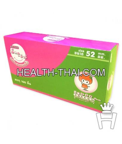 Endoo Pink 52 ( ถุงยางอนามัย เอ็นดู พิงค์ 52 ) - ถุงยาง สตรอเบอรี่ 52 มม. - 100 ชิ้น