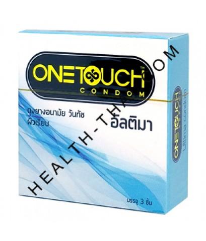 HOT - One Touch Ultima ถุงยางอนามัย วันทัช อัลติมา - บางกว่าวันทัชทุกรุ่น 50.5 มม. - 1 กล่อง