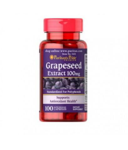 Puritan\'s Pride Grape Seed Extract 100 mg. สารสกัดเมล็ดองุ่น 100 เม็ด (เส้นเลือดขอด, อยู่หน้าจอนานๆ