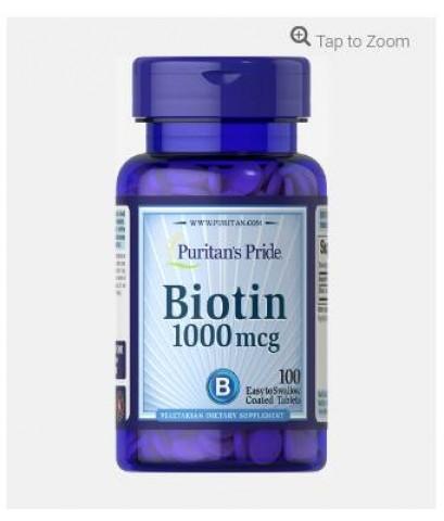 Puritan\'s Pride Biotin 1000 mcg ขนาด 100 เม็ด