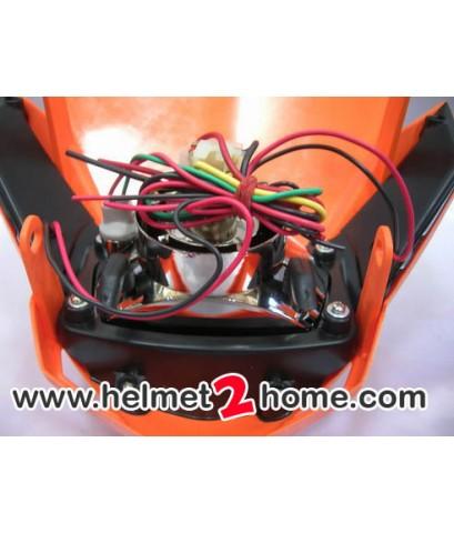 หน้ากาก KSR KLX110 รุ่น Platinum LED สีส้ม