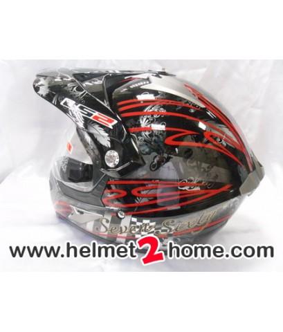 หมวกโมตาด LS2 MX433 Sixty-Seven สีดำ