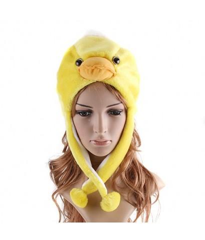 พร้อมส่ง หมวกสัตว์ หมวกแฟนซีการ์ตูน  รูปลูกเป็ด หมวกเป็ด Cartoon hat Soft Warm Cap Duck