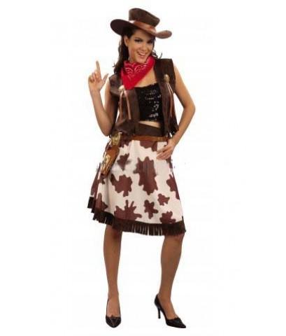 pre order  ชุดแฟนซีคาวเกิร์ล คาวบอยสาว พร้อมหมวก ผ้าพันคอ  Adult cowgirl costume