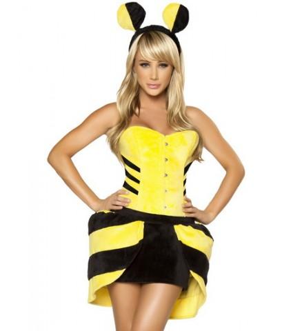 พร้อมส่ง   ชุดแฟนซี ชุดแฟนซีสัตว์ผู้ใหญ่ ชุดแฟนซีผึ้ง กำมะหยี่หนาอย่างดี พร้อมที่คาดผม