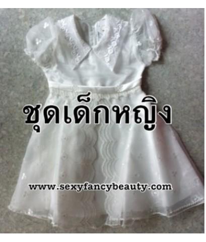 พร้อมส่ง ชุดแฟนซีเด็ก ชุดนางฟ้าเด็ก ชุดนางฟ้า Angel ชุดการแสดงเด็กผู้หญิง สีขาว size 24 (sizeM)