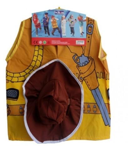พร้อมส่ง ( S A L E ) ชุดคาวบอย พร้อมหมวก ขนาดเด็กอายุตั้งแต่ 3 -8 ขวบ เนื้อผ้าคล้ายเสื้อนักเรียน