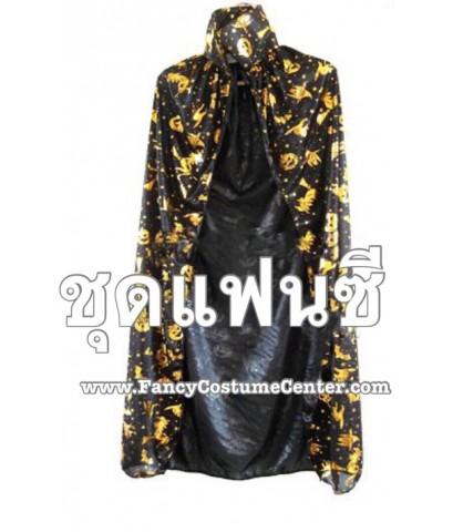 พร้อมส่ง เสื้อคลุมแม่มด พ่อมด เสื้อคลุมฮาโลวีน สำหรับเด็ก ยาว 80 cm witch halloween cape