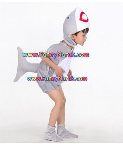 พร้อมส่ง ชุดแฟนซีเด็ก ชุดแฟนซีสัตว์ ชุดสัตว์น้ำ ชุดฉลาม กำมะหยี่ ขนาดเด็กสูง 110-120 cm